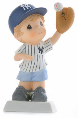 New York Yankees Boy Catching Baseball Retired Figurine by Precious Moments