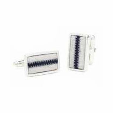 New York Yankees Game Used Baseball Pinstripe Uniform Cufflinks<br>ONLY 1 LEFT!