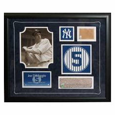 New York Yankees Greats Monument Park Brick & Game Used Dirt Framed Collage<br>ONLY 2 LEFT!