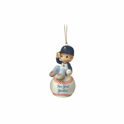 New York Yankees I Have A Ball With You Baseball Boy Retired Ornament by Precious Moments