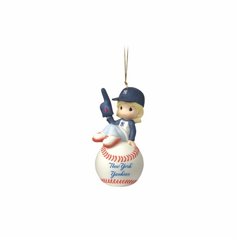 New York Yankees I'm Your Number One Fan! Baseball Girl Retired Ornament by Precious Moments