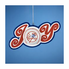 New York Yankees JOY Ornament<br>ONLY 1 LEFT!