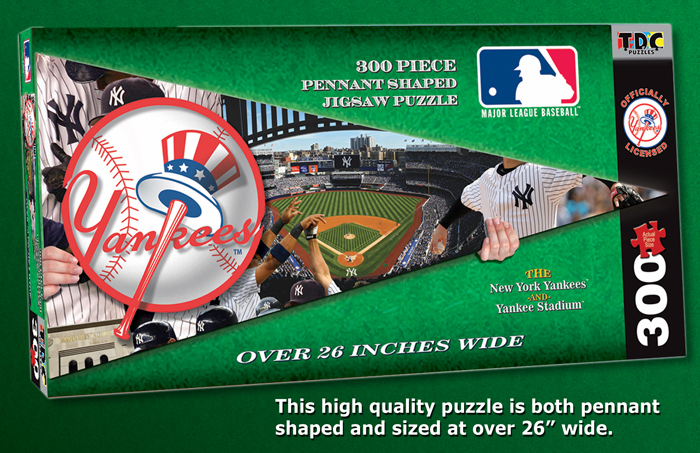 New York Yankees MLB Pennant Shaped 300pc Puzzle<br>LESS THAN 8 LEFT!
