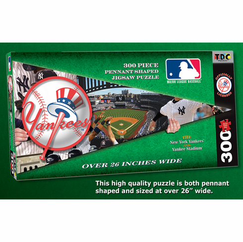 New York Yankees MLB Pennant Shaped 300pc Puzzle<br>ONLY 1 LEFT!
