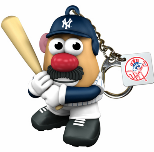 New York Yankees Mr. Potato Head Keyring