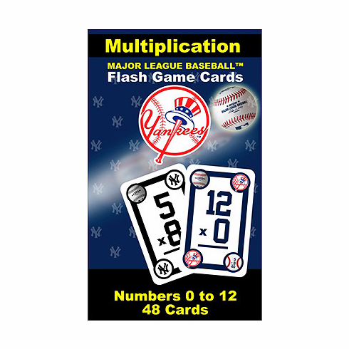 New York Yankees Multiplication Flash Cards