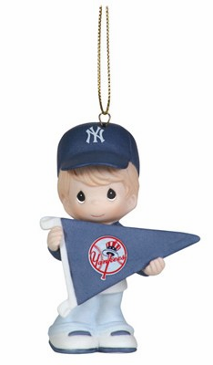 New York Yankees My Team's A Home Run Baseball Boy Retired Ornament by Precious Moments
