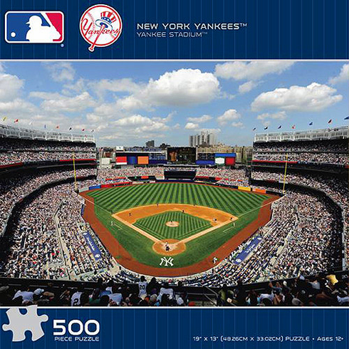 New York Yankees New Yankee Stadium 500 Piece Baseball Puzzle<br>RETIRED 2009 DESIGN!<br>SOLD OUT!