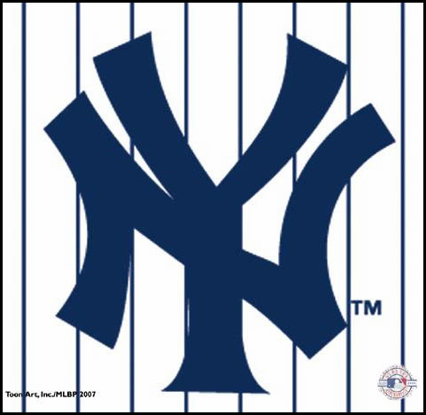 New York Yankees Pinstripes Mouse Pad