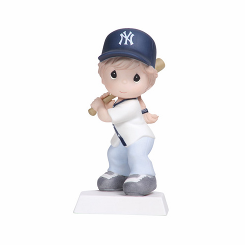 New York Yankees Swing For The Fence Girl Batting Retired Baseball Figurine by Precious Moments<br>ONLY 1 LEFT!