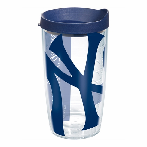 New York Yankees Wrap 16oz Tumbler with Lid by Tervis<br>ONLY 2 LEFT!