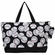 NGIL Baseballs on Black Large Canvas Tote Bag<br>2 COLORS AVAILABLE!