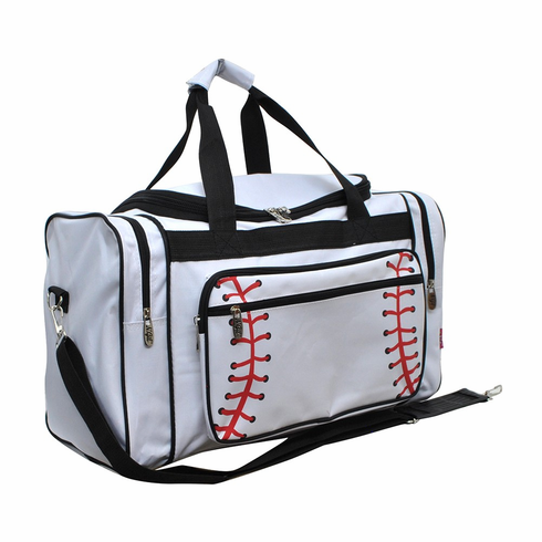 "NGIL White Baseball Canvas 20"" Duffel Bag<br>LESS THAN 6 LEFT!"