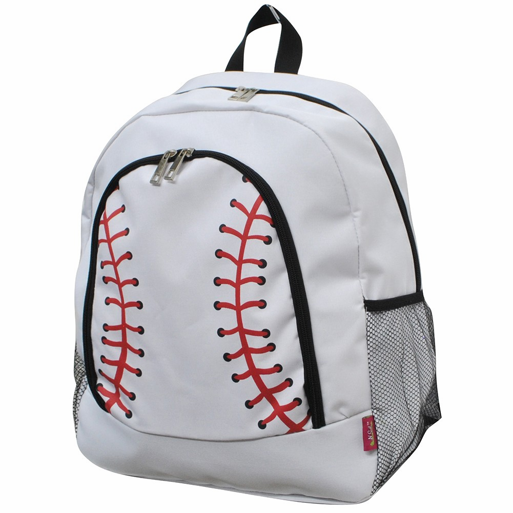 NGIL White Baseball Canvas Backpack<br>LESS THAN 6 LEFT!