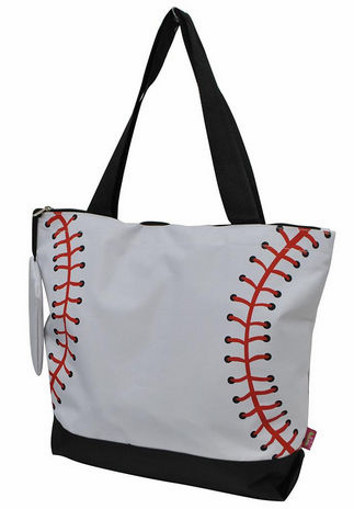 NGIL White Baseball Canvas Tote Bag<br>LESS THAN 8 LEFT!