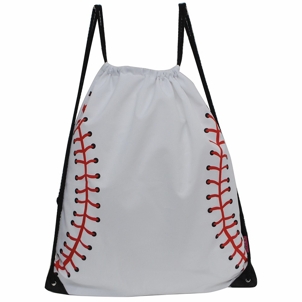 NGIL White Baseball Drawstring Bag<br>LESS THAN 6 LEFT!