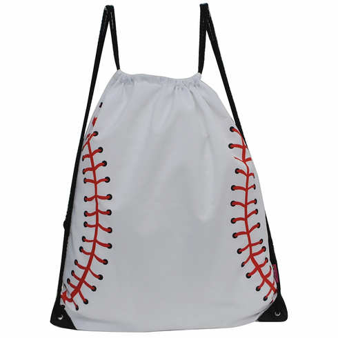 NGIL White Baseball Drawstring Bag<br>LESS THAN 12 LEFT!