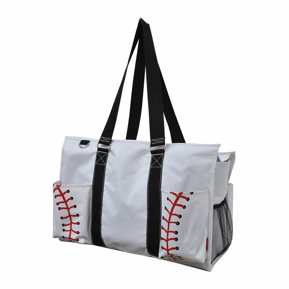 NGIL White Baseball Utility Canvas Tote Bag<br>LESS THAN 6 LEFT!
