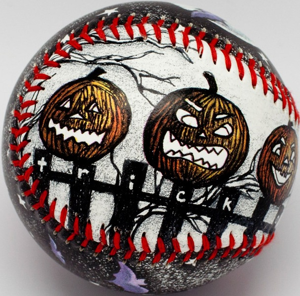 Night at the Pumpkin Patch Halloween Baseball