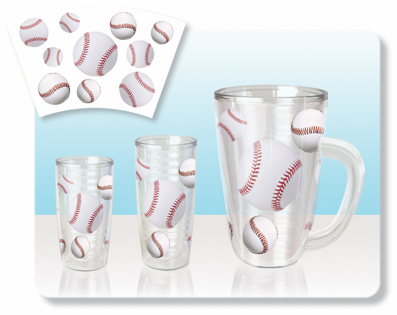 No Sweat Baseball Tumblers and Pitchers