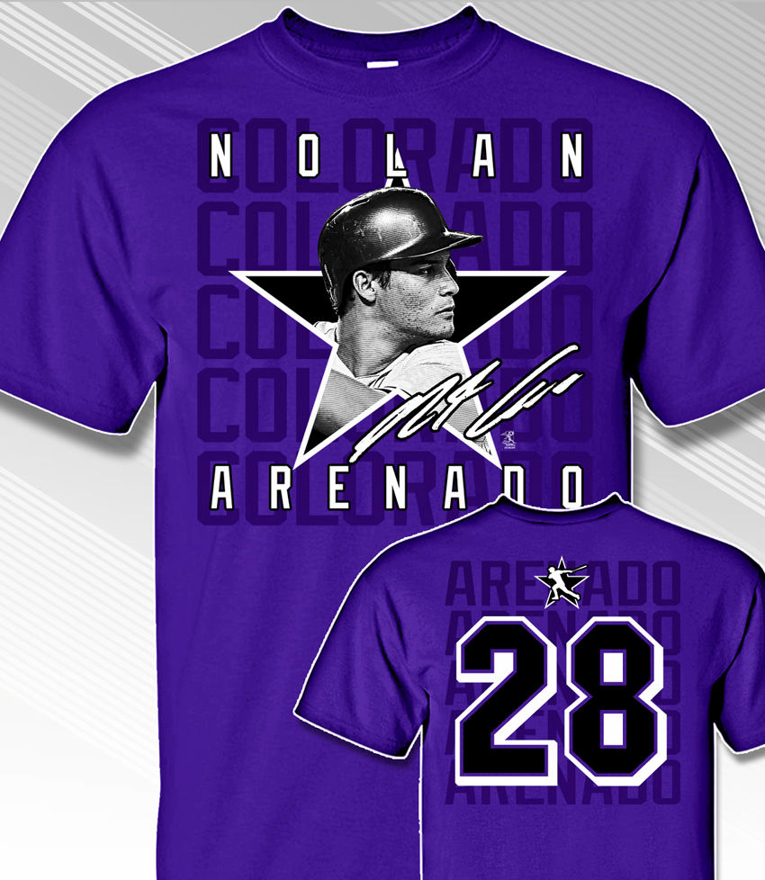 Nolan Arenado Star Power T-Shirt<br>Short or Long Sleeve<br>Youth Med to Adult 4X