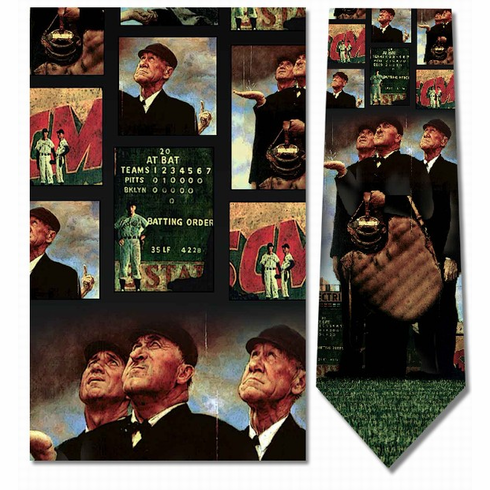 Norman Rockwell�<br>Bottom of the Sixth<br>Men's Silk Baseball Tie