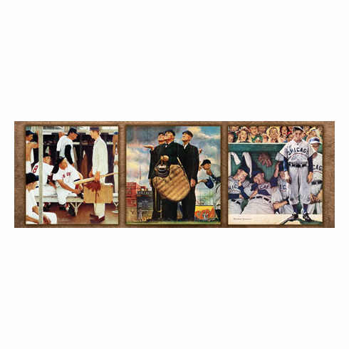 Norman Rockwell Saturday Evening Post Baseball Collection 1000pc Panoramic Puzzle<br>ONLY 4 LEFT!