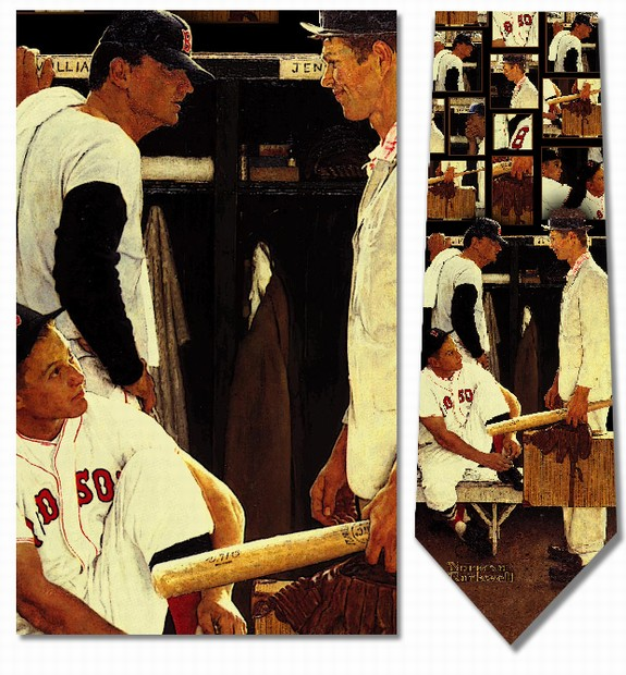 Norman Rockwell�<br>The Rookie<br>Men's Silk Baseball Tie