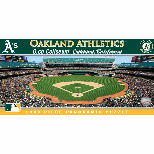 O.co Coliseum Oakland Athletics 1000pc Panoramic Puzzle<br>ONLY 6 LEFT!