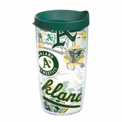 Oakland Athletics All Over Wrap Set of Cups with Lids by Tervis