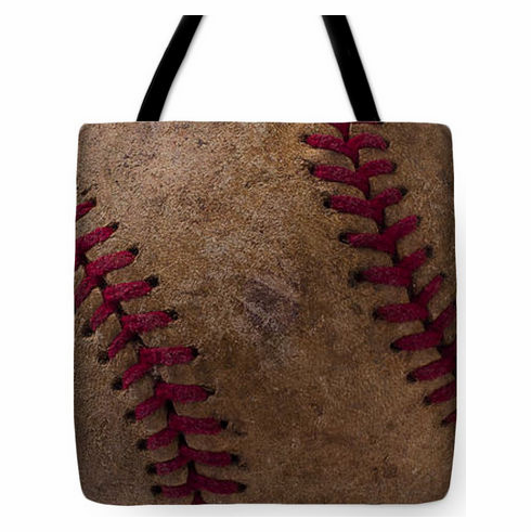 Old Baseball Seams Tote Bag<br>3 SIZES AVAILABLE!