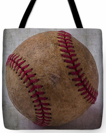 Old Baseball Tote Bag<br>3 SIZES AVAILABLE!