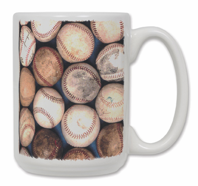 Old Baseballs Ceramic Coffee Mug
