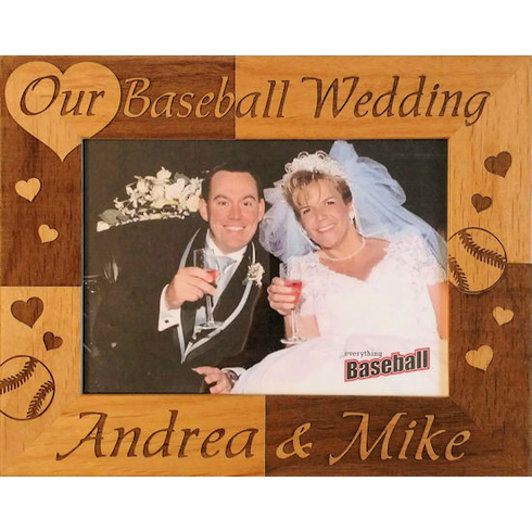 Our Baseball Wedding Personalized Photo Frame<br>3 SIZES!