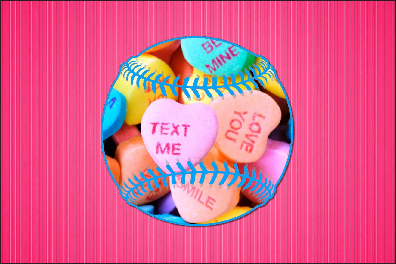 Pack of 12 Baseball 4x6 Valentine's Day Cards