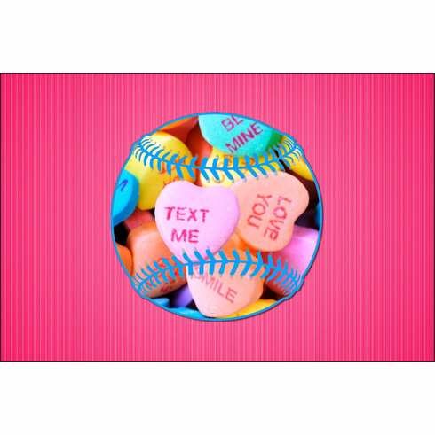 baseball valentines day cards