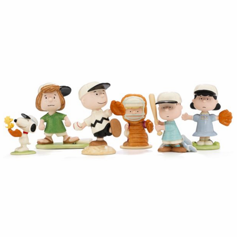 PEANUTS™ 6-piece Baseball Team Figurine Set by Lenox<br>ONLY 1 SET LEFT!