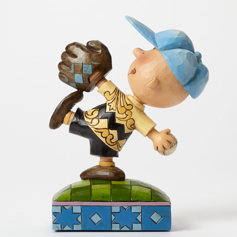 Perfect Pitch Baseball Charlie Brown Figurine<br>LESS THAN 6 LEFT!