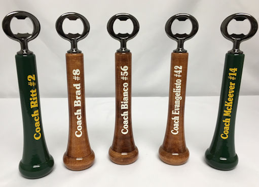 Personalized Baseball Bat Bottle Openers
