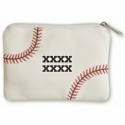 Personalized Baseball Coin Purse