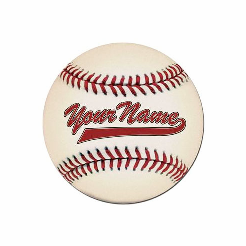 Personalized Baseball Floor Mat