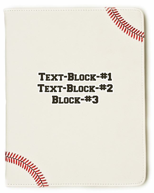 Personalized White Baseball iPad Cover