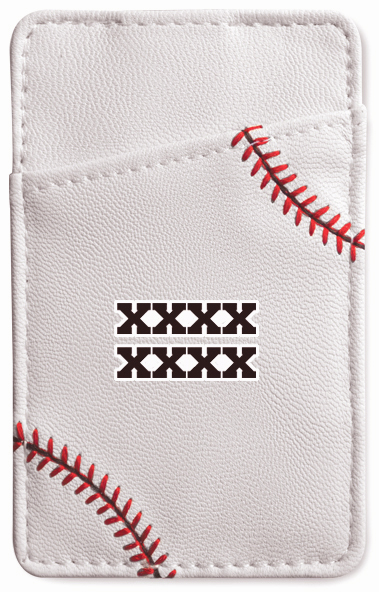Personalized White Baseball Money Clip