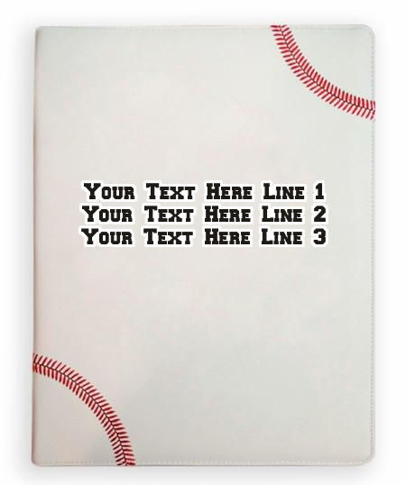 Personalized White Baseball Portfolio