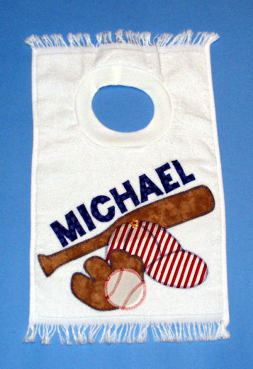 Personalized Baseball Pullover Bib