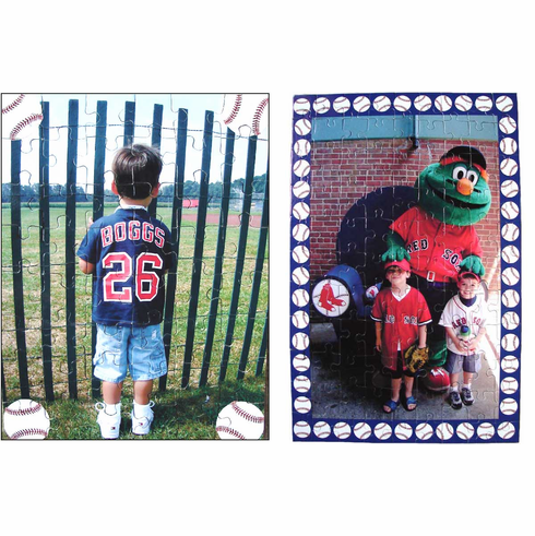 Personalized Baseball Photo Jigsaw Puzzles