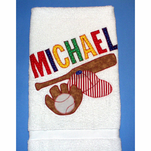 Personalized Baseball Towels