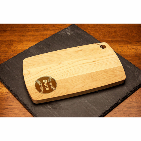 Personalized Engraved Baseball Rectangular Maple Cutting Board