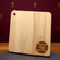 Personalized Engraved Baseball Square Maple Cutting Board