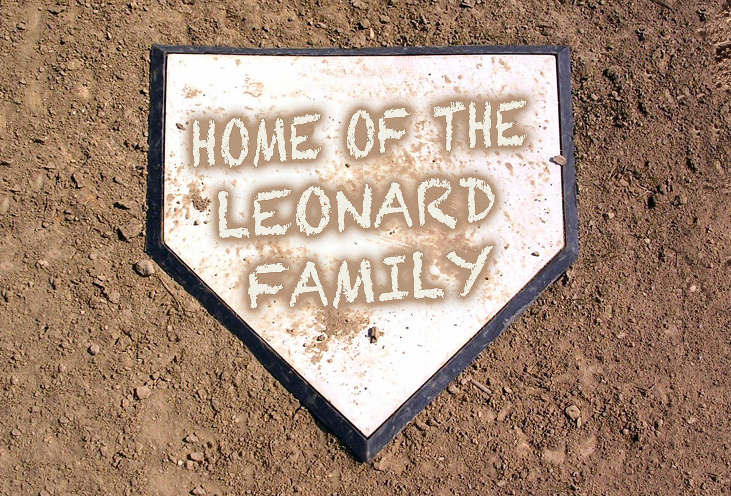 Personalized Dirty Home Plate Baseball Doormat